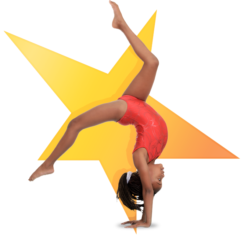 Halo Sparks Gymnastics girl in front of star
